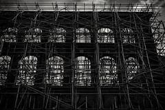 Gentrification (Daz Smith) Tags: dazsmith fujifilmxt3 xt3 fuji city streetphotography citylife thecity urban streets uk monochrome blancoynegro blackandwhite mono stokescroft bristol development gentrification scafold pipes architecture scaffold
