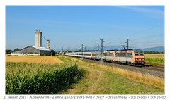 BB 26166 Lunéa - Kogenheim (CC72080) Tags: bb26000 bb26100 sncf lunéa train icn intercité nuit kogenheim ter alsace sybic locomotive lokomotive zug personenzug corail