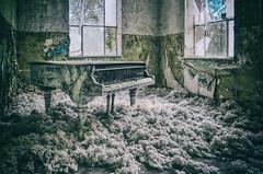 Let's play the piano (Sabine.R) Tags: abandoned urbanex piano brandenburg beelitz