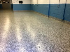 GraniFlex Flooring in Plant- Geauga Coatings- Akron, OH (Decorative Concrete Kingdom) Tags: decorativeconcrete graniflex waterproof epoxy epoxyflakes industrial plant akron ohio