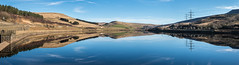 Woodhead Panorama (Maria-H) Tags: woodhead reservoir peakdistrict highpeak derbyshire uk reflection hills panorama olympus omdem1markii panasonic 1235