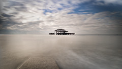 the old pier (Moni E) Tags: northsea sea water brighton uk england grosbritannien greatbritain eos canon canon6dmarkii longexposure filter nd pier westpier decay lostplace wideangle clouds outside sky