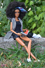Studying in the park (CAYRA FASHION DOLL) Tags: cayra collector hardrock barbie model 16