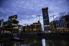 Düsseldorf0149Zollhafen (schulzharri) Tags: düsseldorf nrw deutschland germany europa europe architektur architecture glas modern haus building himmel gebäude wasser fluss stadt