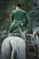 The New Years Day Hunt (judy dean) Tags: velvet56 2019 judydean lensbaby newyearsday hunt meet huntsman greenjacket horse rider standing texture ps 52in2019 50 buttonedup