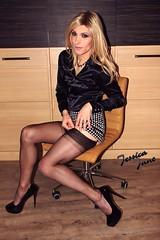 Black Blouse (jessicajane9) Tags: tg crossdress tgurl feminised transgender xdress tv m2f trans feminization travesti crossdresser transvestite cd tranny stockings tgirl nylons satin