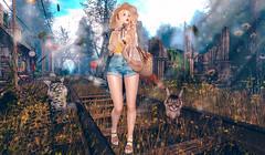 踏春 (imp朣) Tags: mbirdie insomnia angel bonbon zenith sorumin jian secondlife second life spring girl dust bunny yellow cat cute tree flower