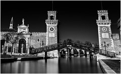 Arsenale (Andy J Newman) Tags: longexposure dock nikon monochrome vulturelabs dockyard arsenale venice silverefex blackandwhite italy d810 provinceofvenice it
