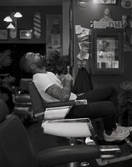 The_Ramsey-1-4 (dewestelincksmith) Tags: 4x5 analog antwerpen barber blackandwhitephotography intrepid kodak largeformat photography portraitphotography ramses