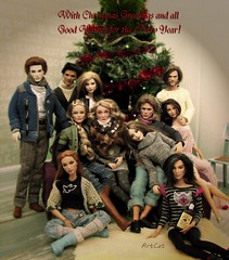 Happy New Year! (ArtCat80) Tags: twilights edward jacob doll dolls minerva mcgonagall mera wonderwoman diana dianaprince dc owen jurassic antiope fashionistas hunger games odair hollidays katniss barbie goddess