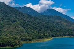 bali twin lakes (Greg M Rohan) Tags: travel blue landscape asia indonesia bali clouds sky mountains mountain trees tree green hills water d750 2018 nikon nikkor boats