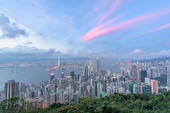 DSC_0119 (WesleyYang 佳霖) Tags: 香港 盧吉道觀景台 山頂 太平山 維多利亞港 hongkong 夜景 nightview