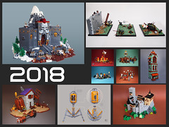 2018 (Dwalin Forkbeard) Tags: lego moc castle fantasy virus spaceship medieval tower dwarf warrior