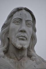 December 30: Jesus (earthdog) Tags: 2018 nikon nikond5600 d5600 18300mmf3563 sanjose frombike whilecycling jesus face sculpture statue art publicart oakhillmemorialpark graveyard oakhill memorialpark project365 3652018
