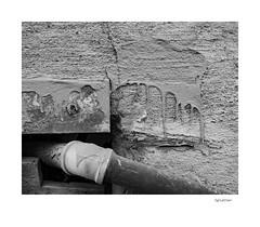 Splatter (agianelo) Tags: pipe stucco concrete paint rough patchwork monochrome bw bn blackkandwhite