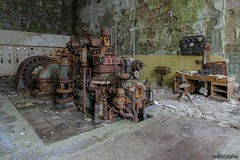 paperworks (Captured Entropy) Tags: lostplace urbex decay abandoned derelict rust industrial generator
