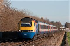 43047, Attenborough (UK), 17/01/19 (bontybermo402) Tags: hst high speed train emt 43052 43047 attenborough 1b33 nottingham british raik flying banana