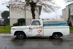 Next stop, the dump (rickele) Tags: gmc chevy chevrolet pickup truck patina mattressdisposal sacramento foundonthestreet