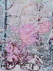 Winter is Here (soniaadammurray - On & Off) Tags: iphone manipulated experimental collage photoshop collaboration martabader abstract art myart contemporary visualart experimentalart abstractart snow trees landscape exterior winter cold switzerland white look artchallenge nature