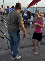 Corpus Christi - Selling Bait (Drriss & Marrionn) Tags: corpuschristi texas usa water sea bay ocean coast coastline people beach waterfront bobhallpier fish fishing bait money padreisland fishermen