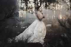 Fairytale (AlexanderHorn) Tags: fairy princess queen fantasy portrait drama dramatic woman beauty scandinavian dress white winter wonderland