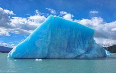 Blue iceberg / Синий айсберг (Vladimir Zhdanov) Tags: travel argentina patagonia andes elcalafate lagoargentino iceberg ice water lake mountainside sky cloud landscape nature