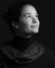 Krista (stephenisabellemaggie) Tags: daughter femaleportrait blackandwhiteportrait canon6d canon70200f28lisiiusm