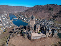 Reichsburg Cochem (Jaco Verheul) Tags: cochem rijnlandpalts duitsland de castle burg burcht germany drone dji spark mosel moezel river aerial ship landscape winter sky medival
