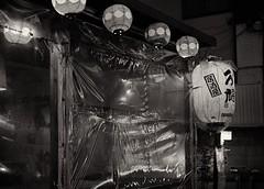 Fine dining behind plastic (Bill Morgan) Tags: fujifilm fuji xt3 35mm f2 bw alienskin exposurex4 silverefexpro