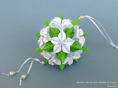 Bascetta Star by Paolo Bascetta with flowers (irina_chisa) Tags: origami kusudama flowers
