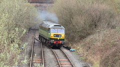 Lean On Me - 47810 (D1924) on 0Z67 (thetrainsurfers) Tags: 12032019 0z67 stockport car grass tree walking new old art leaves stones railways uk metal man machine nature earth planet flickr photography water tracks lines england trainspotter trainspotting colours location trains fence weather concrete driver landscape people outside vehicle british railway picture road railroad train sky rail day diesel locomotive hazard windshield railfreight freight d1924 47810 legend crewe hs depot class47 47 47no heritage