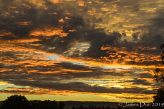 Sunset Close-up (James Dun) Tags: sunset clouds layers rain thunderstorms weather event autumn heat humidity flooding lightning colours sky brisbane queensland australia nikon d7000 2019 season