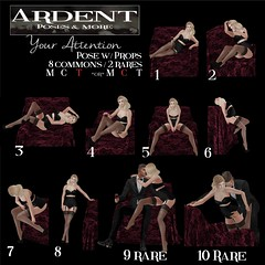 Ardent Poses - Your Attention Ad (Ardent Poses) Tags: secondlife second life sl avatar 2nd 2ndlife avi virtual vr 3d inworld poses pose ardent photography people exclusive avatars release new broderick logan ena roane enaroane advertisement ardentposes gacha