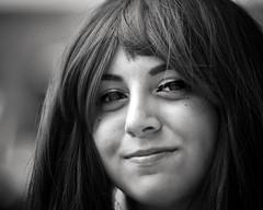 a smile like yours (gro57074@bigpond.net.au) Tags: asmilelikeyours darlingharbour sydney monotone monochrome mono blackwhite bw 2018 december woman portrait posed guyclift d850 nikon nikor f28 70200mmf28