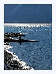 Meditating (overthemoon) Tags: switzerland suisse schweiz svizzera romandie vaud montreux lake léman lakegeneva mountains alps water blue sunny winter frame
