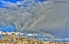 Afternoon Rainbow (Walker Dukes) Tags: sanfrancisco california sky sfbayarea sf canon cityscape clouds canonxti hdr highdefinitionresolution blue black green gold gray landscape orange photomatix photoshop purple photograph red urban view vista violet white xti cyan yellow