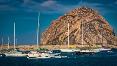 Morro Rock & Habor-2 (CDay DaytimeStudios w /1 Million views) Tags: beach boats ca california cloudyday cloudysky coastline harbor highway1 morrobay ocean pacificcoast pacificcoasthighway sailboats sky water yachts