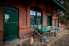 Cripple Creek Colorado - The abandoned Railroad Station (BikeColorado) Tags: train station heritage old historic colorado cripplecreek railroad narrowguage