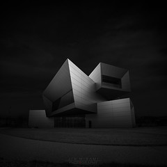 block play (Jin Mikami) Tags: architecture monochrome mono bw bnw black white pentax japan minimalism surreal photoshopped cityscape dark darkness