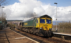 66956 Aber 02/04/2019 (Flash_3939) Tags: 66956 class66 diesel locomotive freightliner coal freight railfreight aber abe station fosw rail railway train uk april 2018