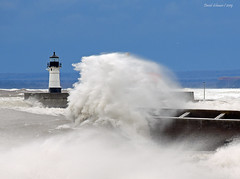 The Gales of Spring (Missabe Road) Tags: lakesuperior duluth piers gale waves wind