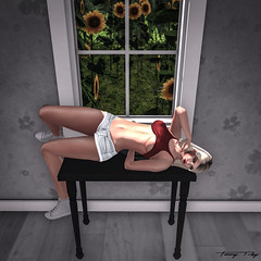 Like a Sunflower (Tonny Rey) Tags: woman furniture clothing home deco event versus