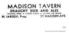 1933  madison tavern  57  Madison   Opened immediately after the end of Prohibition (albany group archive) Tags: bar 1930s old albany ny vintage photos picture photo photograph history historic historical