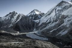 Mount Everest Base Camp (Adrians Photos) Tags: blue mountain range peak snowcapped ice fall glacier alpine base camp mount everest nepal nepali landscape himalaya himalayas nature asia