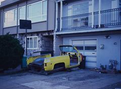 Sunset District // San Francisco (bior) Tags: pentax645nii pentax645 pentax 645 kodakfilm kodak kodaklumiere lumiere slidefilm mediumformat 120 sanfrancisco sunsetdistrict car wreck