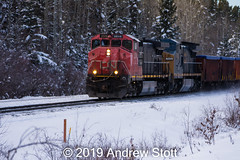 416 at Bickerdike East (awstott) Tags: 2510 c408w canadiannationalrailway cnr c449wl train gecx cn locomotive 7313 alberta generalelectric ge yellowheadcounty canada ca