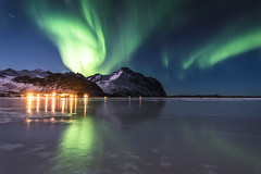 Green monster (Lukasz Lukomski) Tags: eggum lofoten norway norge landscape reflection aurora norwegia northernlights sea ice night longexposure frozen sigma1020 nikond7200 lukaszlukomski