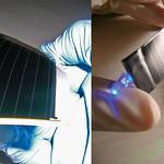 フレキシブルCIGS太陽電池の写真