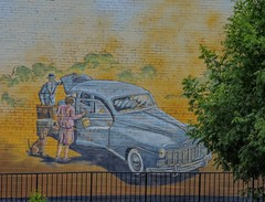 Going Somewhere (clarkcg photography) Tags: walls wall art wednesdaywalls travel car luggage loadup dog tree fence