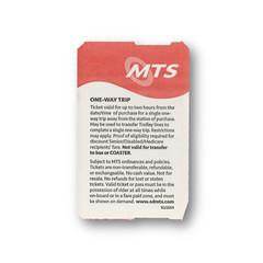 MTS Tic (2) (Railway Ephemera) Tags: railroad railway train transit ticket mts sandiego california trolley